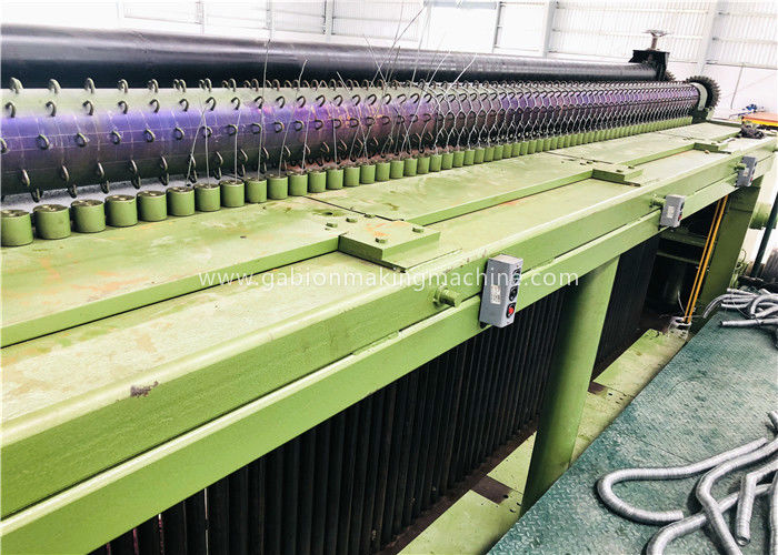60x80mm Automatic Gabion Wire Mesh Machine / Heavy Duty Hexagonal Wire Netting Machine