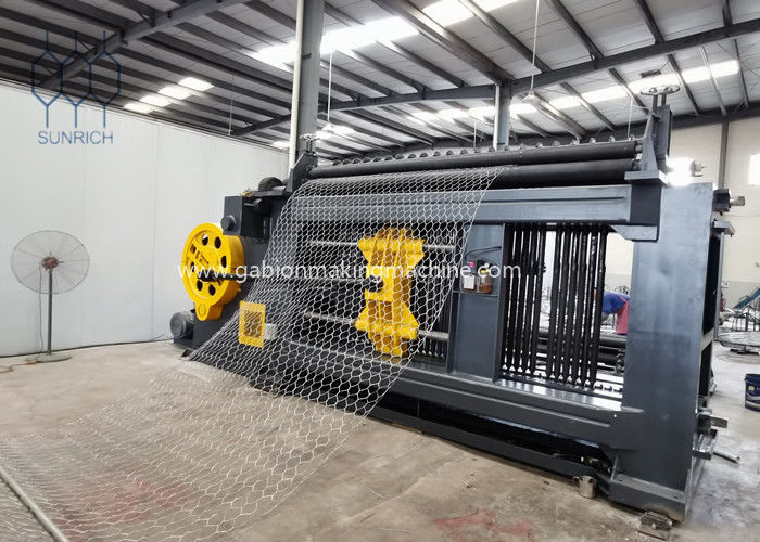 Custom Made 2M Weaving Width Gabion Machine for 66x80mm With 2.0mm Steel Wire