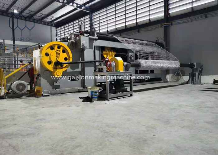 High speed 225m/h Gabion Box Gabion Mattress Making Machine With Automatic PLC Control System For 110x136mm Mesh Size